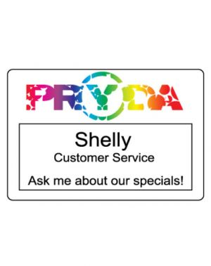Full Colour Print - Window Plastic Name Badge (3