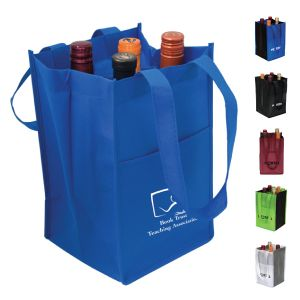Non-Woven Four Bottle Wine Bag