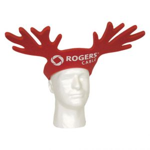 Reindeer Antler Pop Up Visor