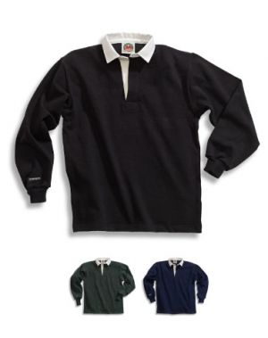 Traditional Cotton Solid Rugby Shirts