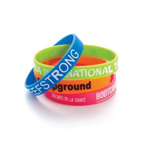 Silkscreen Printed Silicone Bracelets/Wristbands