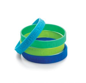 Debossed or Embossed Silicone Bracelets/Wristbands