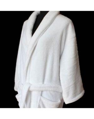 Coral Fleece Bath Robe Shawl Collar
