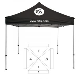 10' Square Tent - 5 Imprint Locations