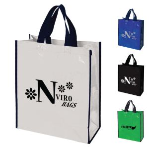 80% Recycled Laminated Woven PP Tote Bag