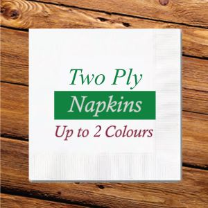 2 Ply Cocktail Napkins - Up to 2 Colours