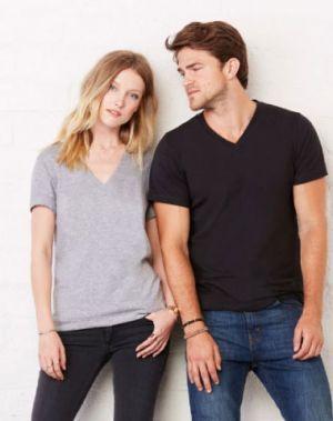 Bella Unisex V-Neck Jersey T-Shirt