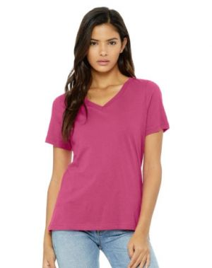 Bella Ladies' Relaxed Jersey V-Neck T-Shirt