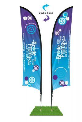 13' Shark Fin Wind Flag Kit - Double Sided
