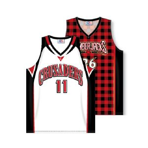 V-Neck Dry-Flex Sublimated Basketball Jersey with Side Inserts