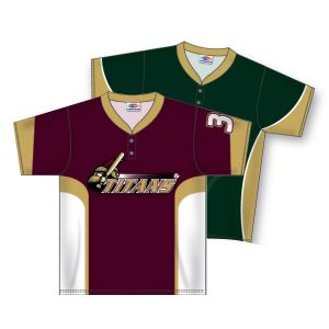 2 Button Dry-Flex Sublimated Baseball Jersey