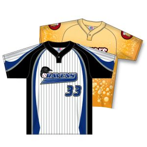 1 Button Dry-Flex Sublimated Baseball Jersey