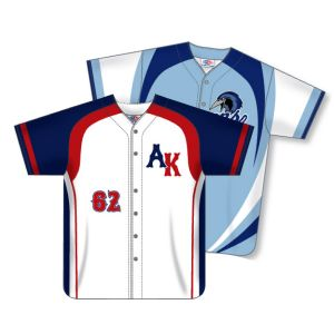 Full Button Dry-Flex Sublimated Baseball Jersey
