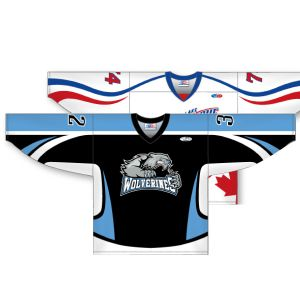 ZH200 Series: AK-Knit Sublimated Hockey Jersey with Half Arm & Side Inserts