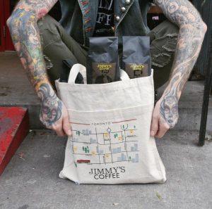 Custom Screen Printed Jimmy's Tote Bag Toronto