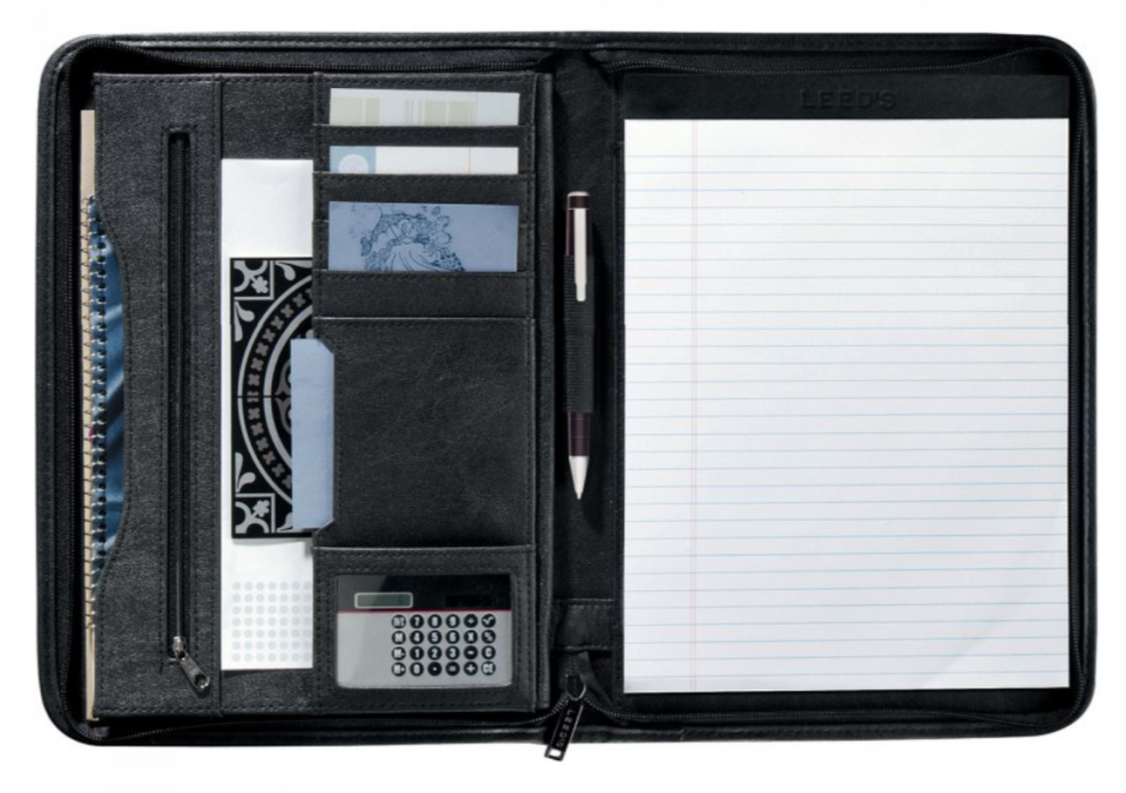 Branded padfolio office supplies