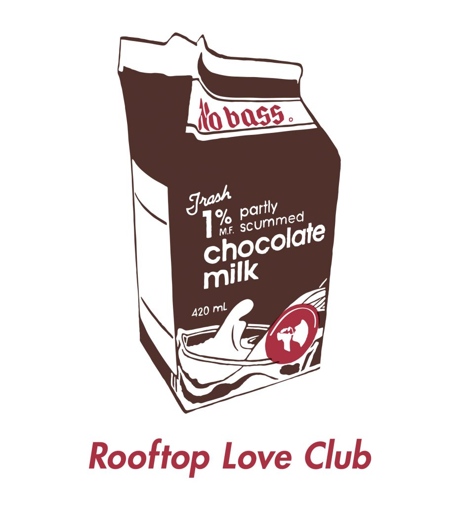 Rooftop Love Club Chocolate Milk Tee Design