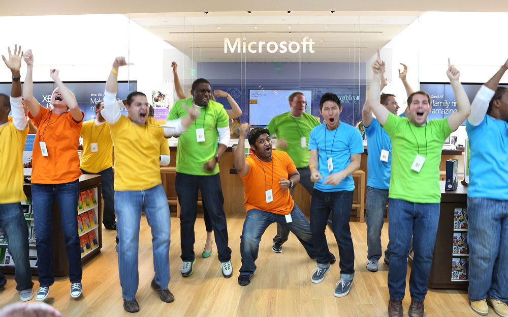 Microsoft went with a colourful look that doesn't take itself too seriously.
