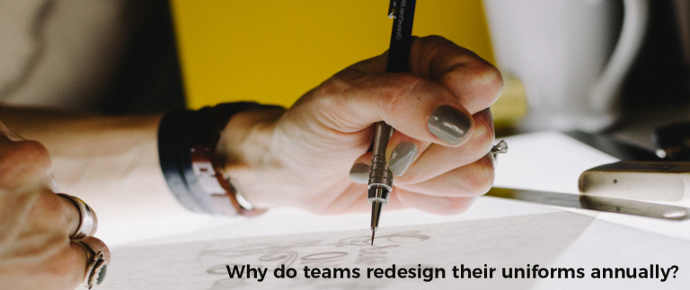 Why do teams redesign their uniforms annually?