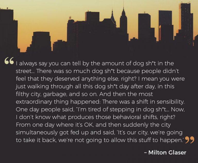 Milton Glaser on NYC