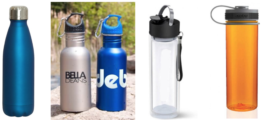 Which custom printed bottles are best? Metal vs Plastic vs Glass
