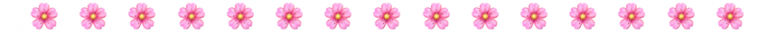 Flower emoji row