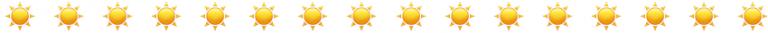 Sun emoji row