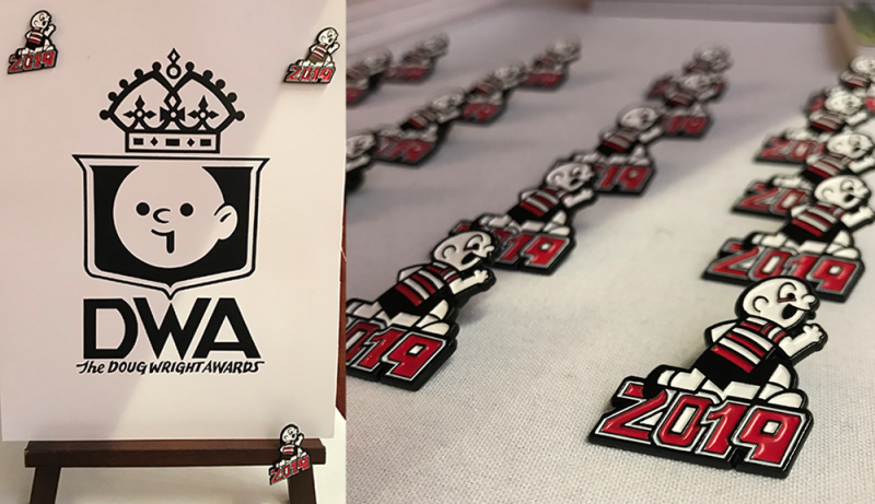 Doug Wright Awards lapel pins