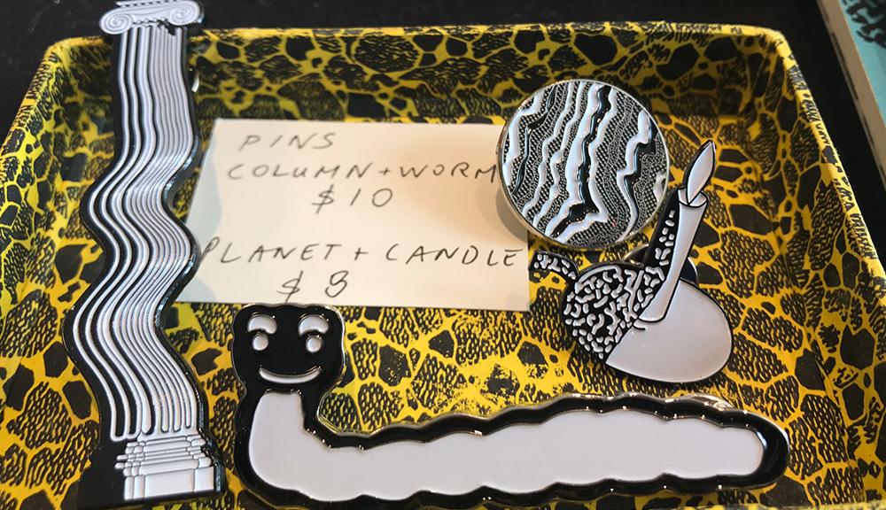Custom hard enamel lapel pin for Toronto Comic Arts Festival