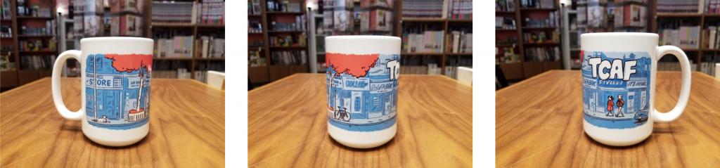This custom mug pays homage to TCAF's origins on Bloor Street