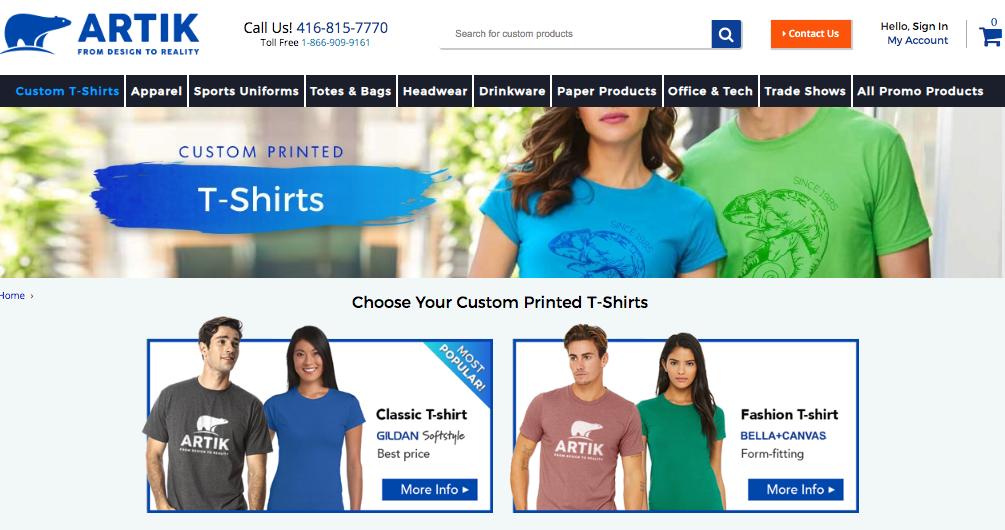 Custom T-Shirts in Toronto by Artik