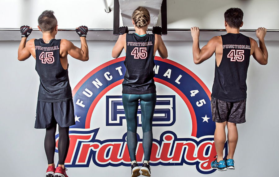 Custom printed fitness shirts for F45 gym