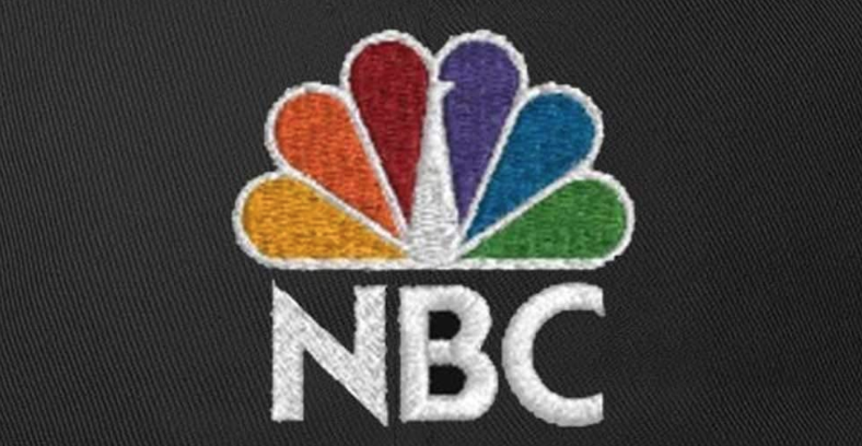 NBC Logo embroidered on a custom hat