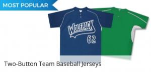 Two Button Team baseball jerseys for Little League teams across Canada
