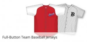 Button down baseball uniforms
