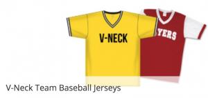 V-Neck baseball uniforms for Little Leagues