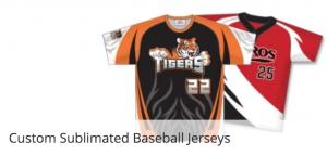 Sublimated baseball uniforms