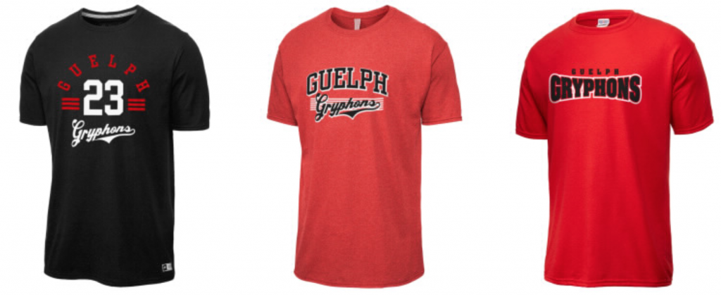 Guelph Gryphons Custom Printed T-Shirts Ontario, Canada