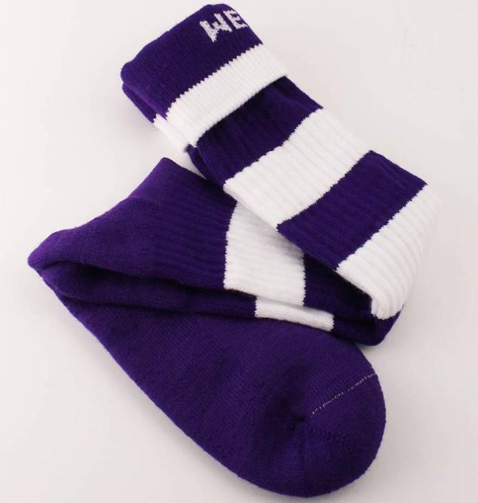 Western University Custom Printed Socks for Mustangs Rugby Team