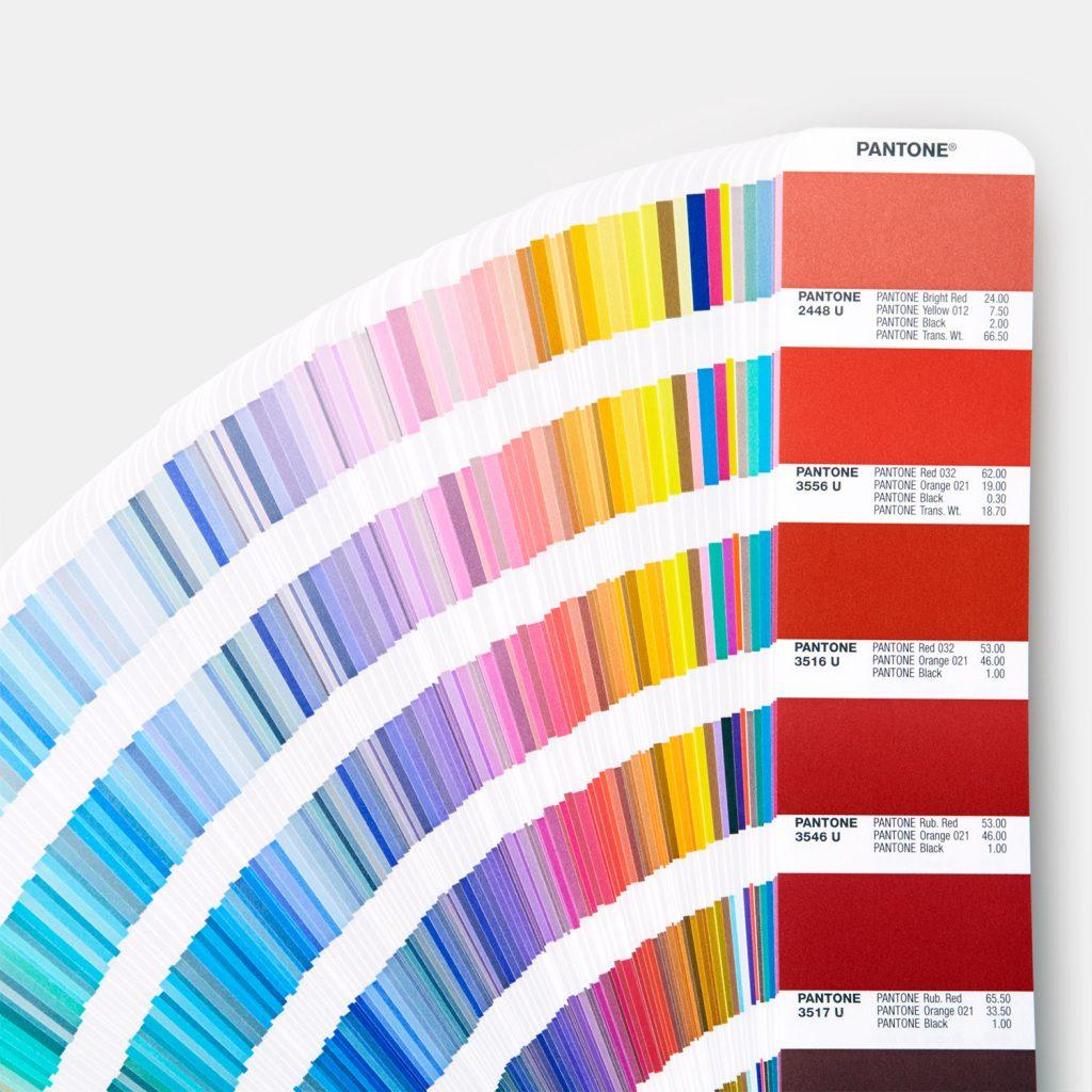 Pantone colour book 2020