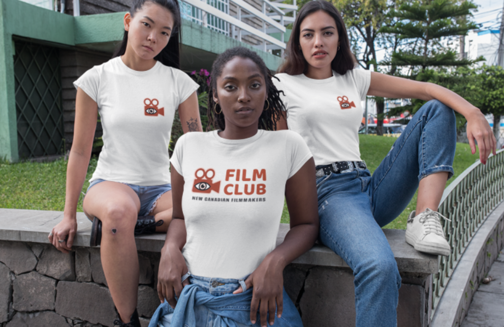T-shirts screen printed for a local Torontonian filmmakers club