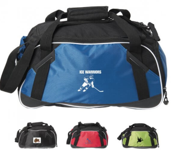Custom printed sports duffel bag from Artik Toronto