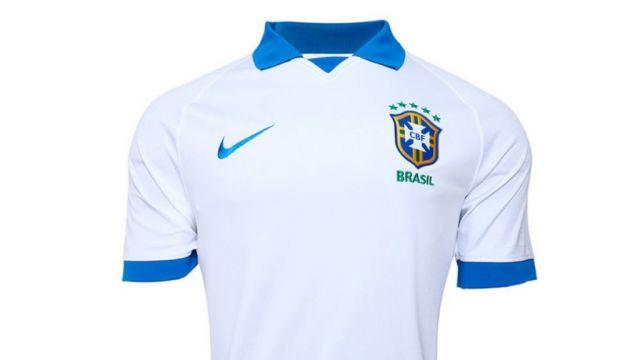 Brazil white soccer shirt